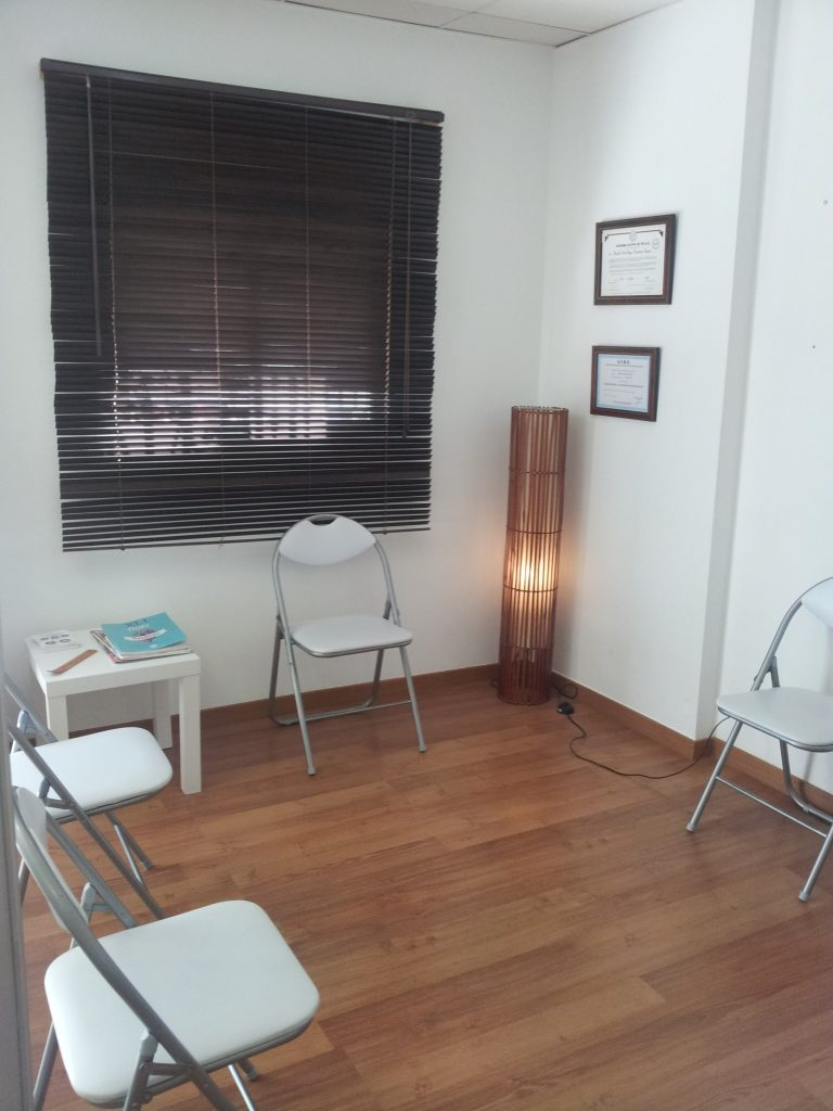 Reapertura del centro Clínico, sala de espera de la clínica